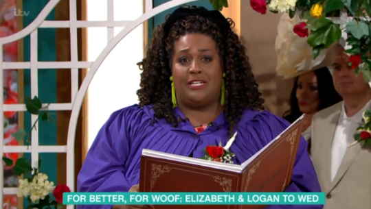 Alison Hammond officiates the wedding on This Morning
