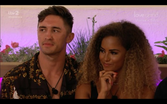 Love Island Greg and Amber