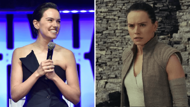 Daisy Ridley as her Star Wars character Rey in Star Wars: The Rise of the Skywalker