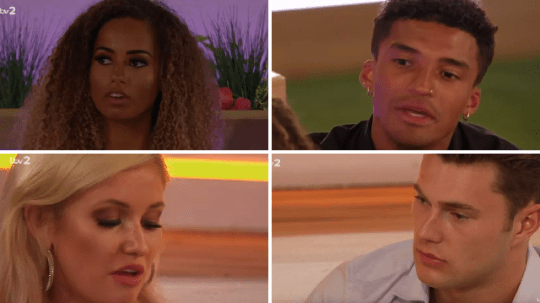 Love Island Amber, Michael, Amy and Curtis