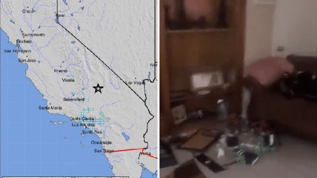 A 'significant' earthquake measuring 6.4 on the Richter scale struck in Southern California Thursday morning, causing damage to homes and property in the city of Ridgecrest