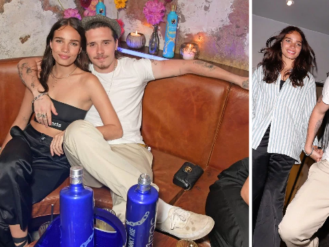 Brooklyn Beckham ditches parents' anniversary celebrations for loved-up date night with Hana Cross