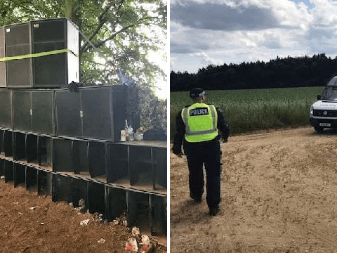 Five arrested after someone saw ad for illegal rave on Facebook and told police