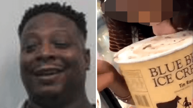 Aspiring singer Lenise Lloyd Martin was arrested after he reportedly copied a viral stunt which saw a girl open a tub of ice cream in a supermarket, then lick it before returning it to the store freezer