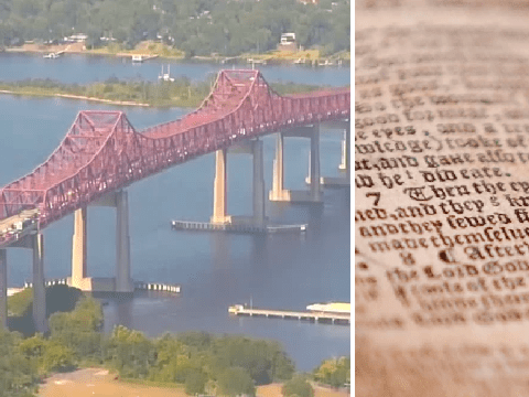 Huge road-bridge had to be evacuated because of foul-smelling 300 year-old Bible