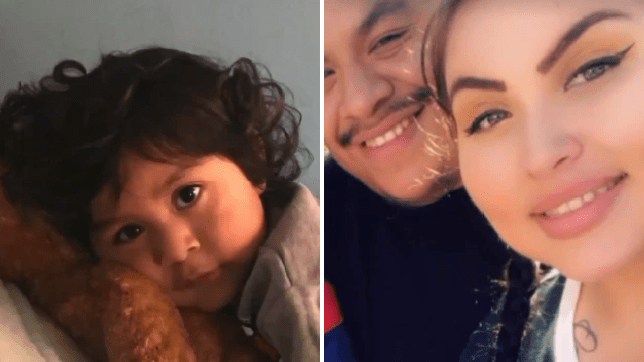 Noah Cuatro, left, died shortly after begging not to be sent back to live with his parents, right. They claim he accidentally drowned at their apartment complex, but doctors say his injuries are not consistent with drowning