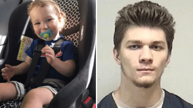 Family photo of Matthew Bolinski and mugshot of his alleged killer Hunter Jones