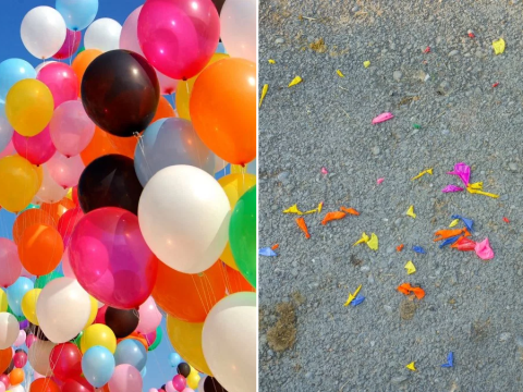 Balloon releases set to be banned to stop plastic pollution
