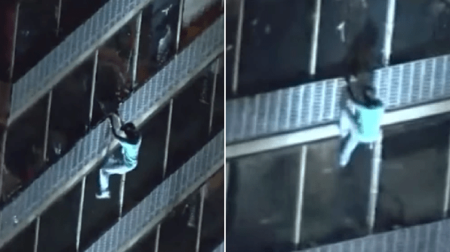 Man scaling down 19-story building in West Philadelphia Thursday