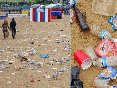 Disgusting mess left by visitors to famous beach will make your blood boil