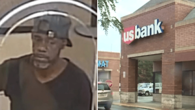 Dopey bank robber accidentally handed teller note with his