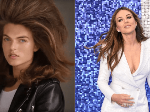 Liz Hurley's son Damian, 17, is basically her doppelganger as he models for make-up campaign