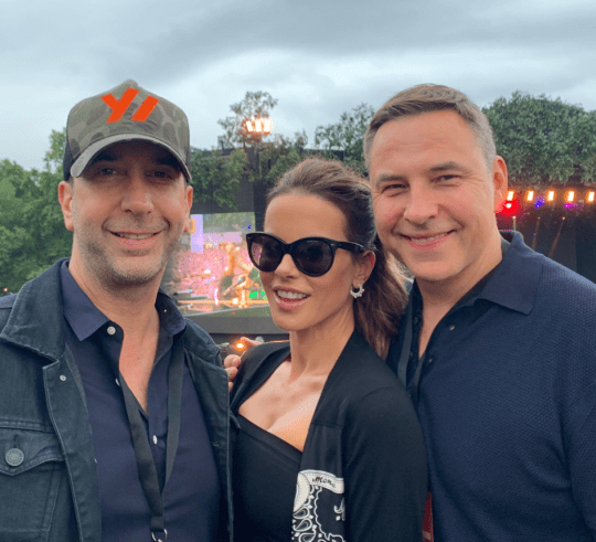 David Schwimmer, Kate Beckinsale and David Walliams