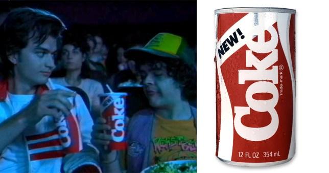 Comp of Stranger Things season 3 and New Coke