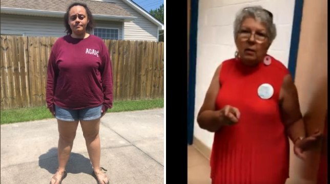 Jenna, left, condemned the church worker, right, for claiming she was too chubby to wear shorts