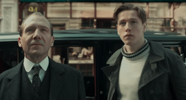 Ralph Fiennes and Harris Dickinson in The King's Man