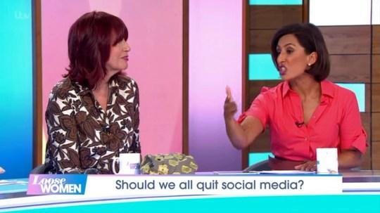 Janet Street-Porter and Saira Khan on Loose Women