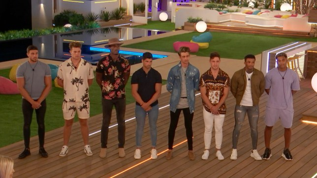 The Love Island 2019 boys at the latest recoupling
