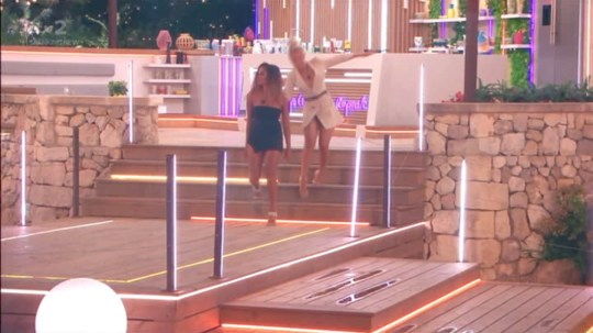 Molly-Mae falls over on Love Island