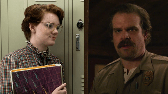 Stranger Things Barb and Hopper