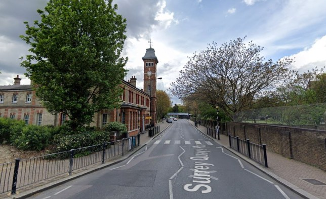 Surrey Quays Road in east London