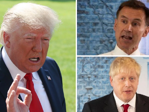 Johnson and Hunt refuse to call Trump's comments about US congresswomen 'racist'