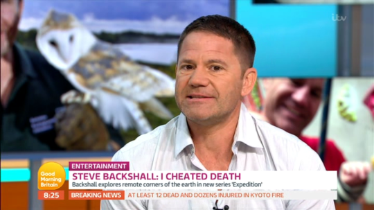 Steve Backshall on Good Morning Britain