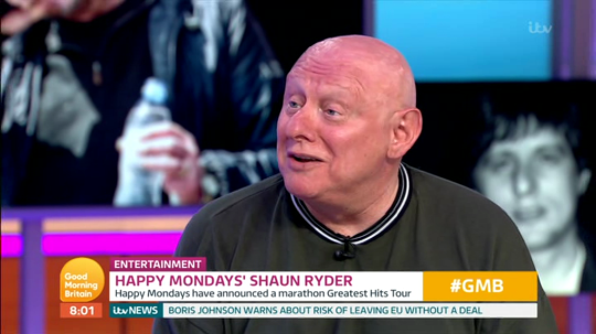 Shaun Ryder reveals his hair has fallen out