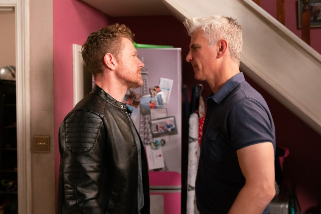 Robert confronts Jed in Coronation Street