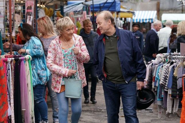 Gillian Wright as Jean Slater and Ade Edmondson as Daniel Cook in EastEnders