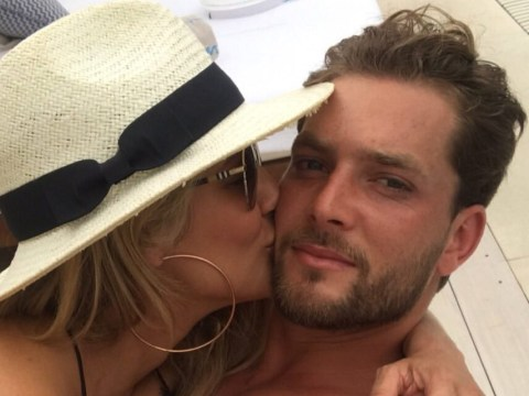 Caroline Flack and tennis player Lewis Burton go Instagram official after kissing in Ibiza