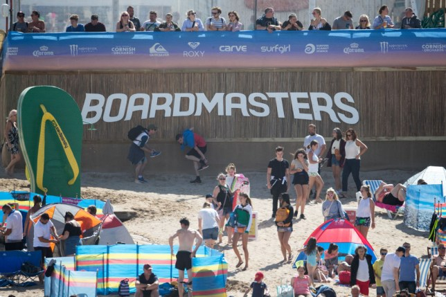Surfers at the 2018 Boardmasters Festival