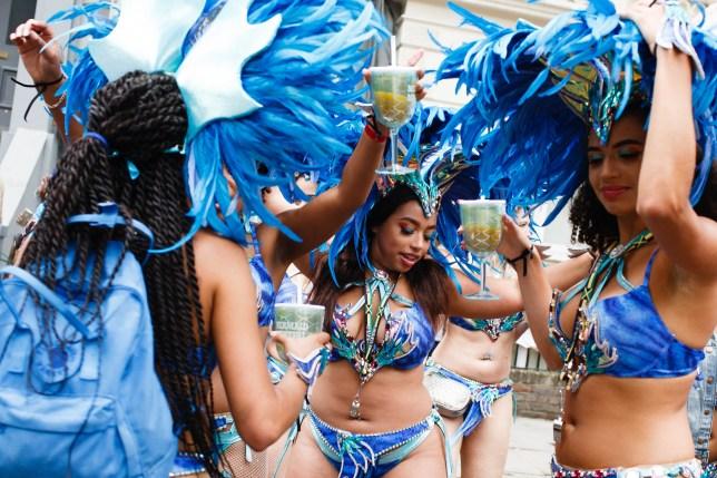 Women dancing at Notting Hill Carnival