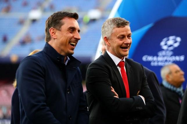 Gary Neville and Manchester United manager Ole Gunnar Solskjaer