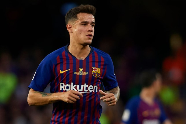 Philippe Coutinho in action for Barcelona against Valencia