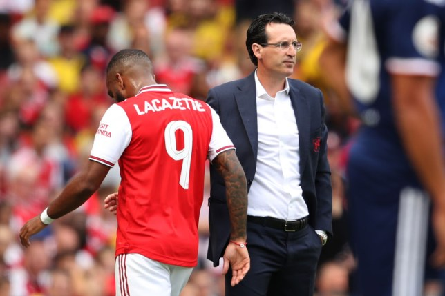 Alexandre Lacazette is in a race to be fit for Arsenal's Premier League clash with Newcastle