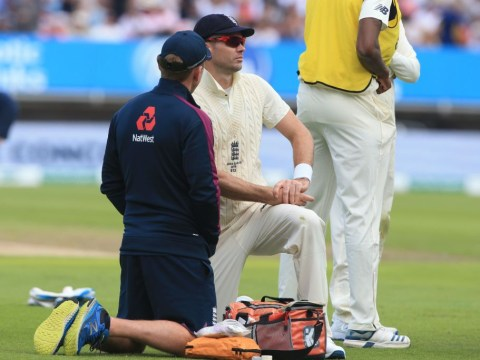 England suffer James Anderson injury blow during first Ashes Test
