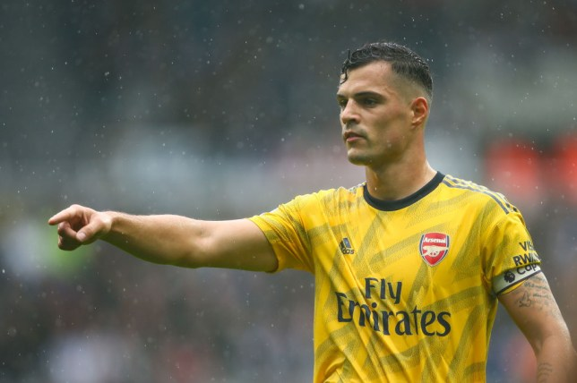 Granit Xhaka wore the captain's armband against Newcastle on the opening weekend of the season
