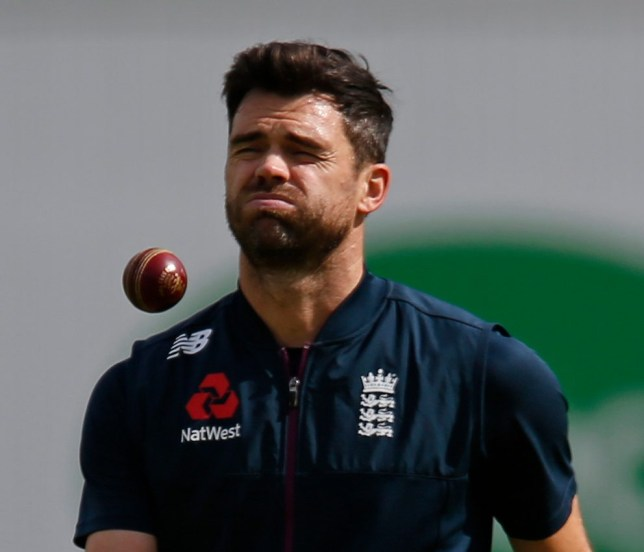 James Anderson could only watch nervously as Jack Leach and Ben Stokes batted to victory
