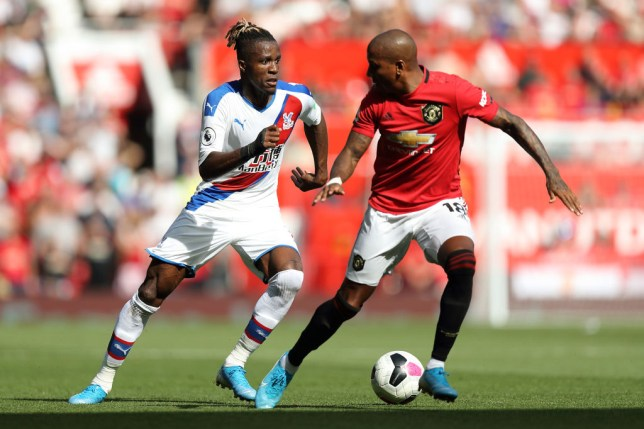 Crystal Palace trolled Ashley Young with a clip of Wilfried Zaha after Manchester United's defeat