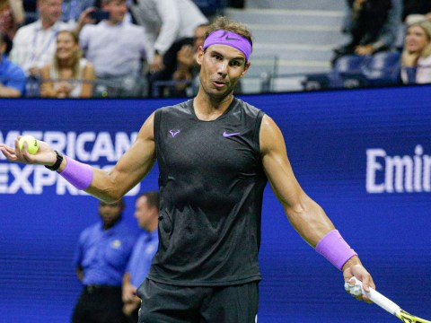 Rafael Nadal argues with umpire over 'crazy' time violation