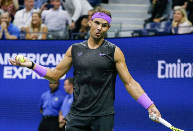 Rafael Nadal claimed he was waiting for a member of the crowd to sit down