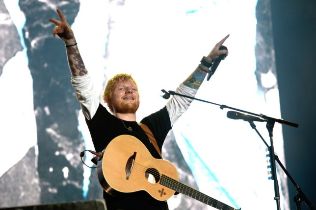 Ed Sheeran performs on stage at Sziget Festival
