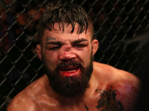 UFC's Mike Perry suffers horrible broken nose during war with Vicente Luque