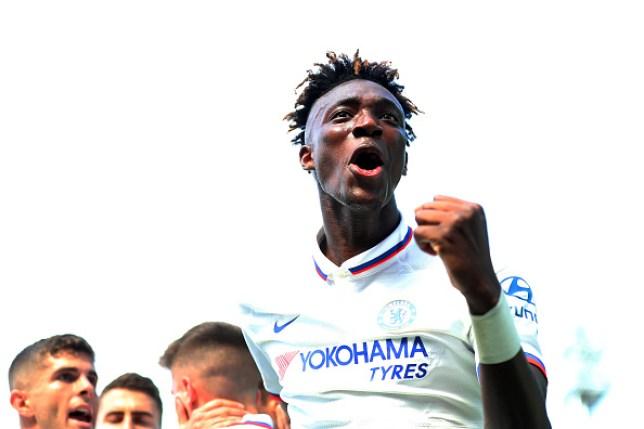 Chelsea striker Tammy Abraham celebrates after scoring against Norwich City