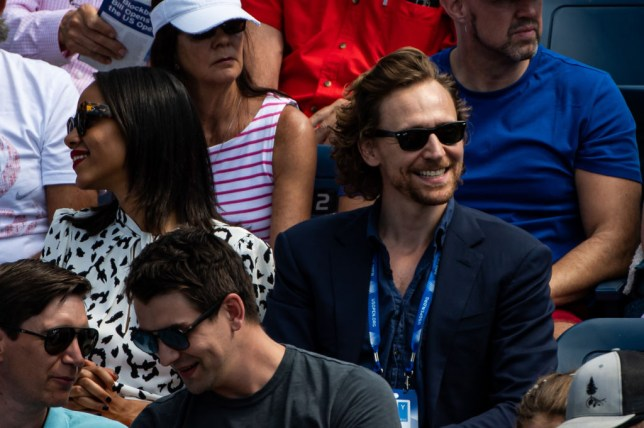Tom Hiddleston watches Johanna Konta's US Open win from the stands