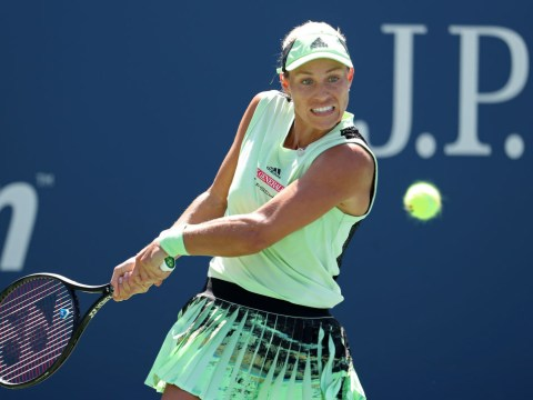 Former US Open champion Angelique Kerber reacts to first-round exit