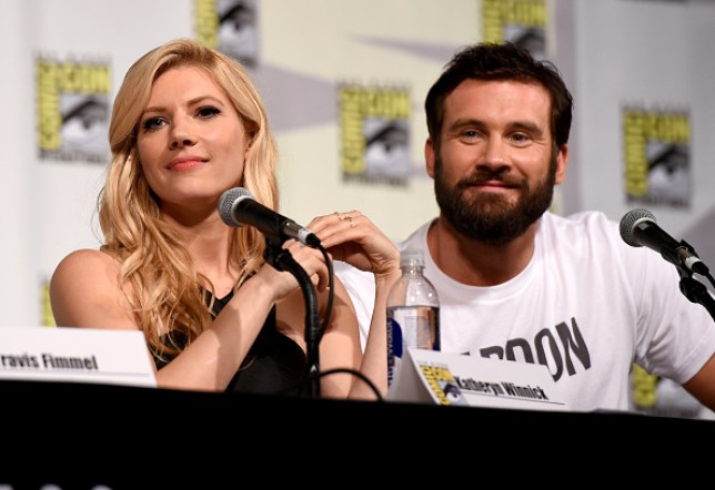 Vikings' Katheryn Winnick and Clive Standen