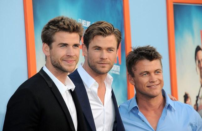 Liam, Chris and Luke Hemsworth