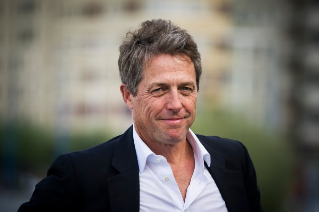 Hugh Grant promoting the film Florence Foster Jenkins in 2016